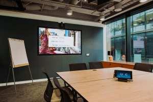 zoom meeting background visual av rooms mvs audio london walls installation partnership berkeley studies case author signage digital projects systems