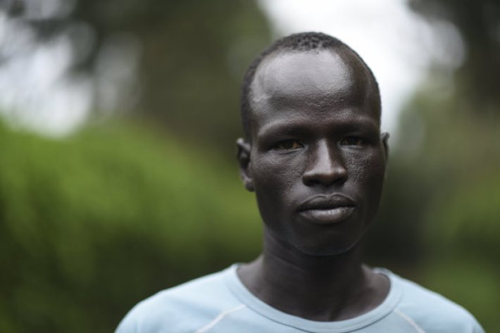 Yiech Pur Biel, 21, refugee from South Sudan runs the 800m. ; Yiech Pur Biel knew early on that if he wanted to make it in life, he would have to do so on his own. Forced to flee the fighting in southern Sudan in 2005, he ended up on his own in a refugee camp in northern Kenya. He started playing football there, but grew frustrated at having to rely so much on his teammates. With running he felt greater control over his own destiny. ìMost of us face a lot of challenges,î says Yiech. ìIn the refugee camp, we have no facilities ñ even shoes we donít have. There is no gym. Even the weather does not favour training because from morning up to the evening it is so hot and sunny.î Yet he stayed motivated. ìI focused on my country, South Sudan, because we young people are the people who can change it,î he says. ìAnd secondly, I focused on my parents. I need to change the life they are living.î Competing in the 800 metres at Rio, Yiech says, could help him to become an ambassador for refugees everywhere. ìI can show to my fellow refugees that they have a chance and a hope in life. Through education, but also in running, you can change the world.î