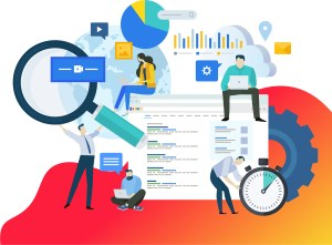 Illustration depicting Search Engine Optimization Services.