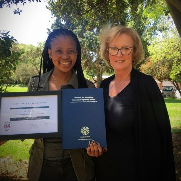 Best Wits Mining and Ventilation Certificate student for 2016