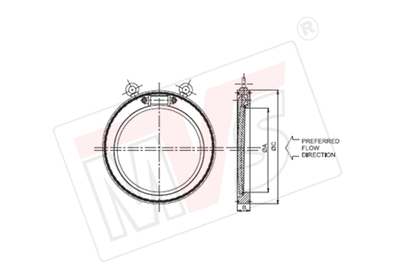 Wafer Check Valve NRV in Single Plate Sandwich Flangeless Type