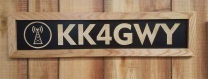 Transmitting Tower Amateur Callsign Sign Wall