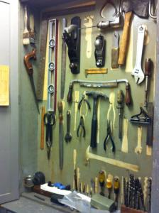 Ward Russell's tool cabinet, recently discovered in MVZ's prep lab