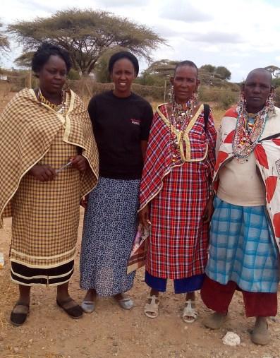 …Members of Loodokilani Women Network,standing from left,Alice Tiapapusha,Secretary General,Maren Richards,member,Konina Taraya,Chairlady and Kikante Mereru,member.