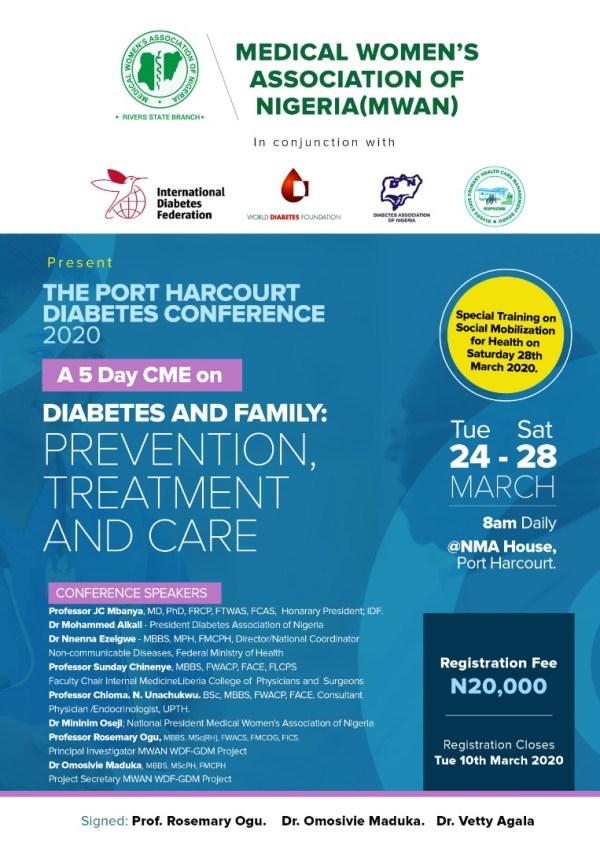 2020 MWAN, Rivers Diabetes Conference