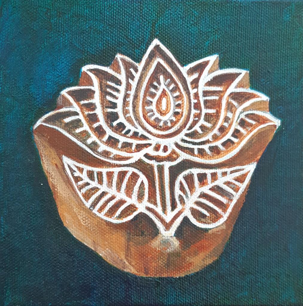 Lotus stempel  15 x 15 cm  -  Van € 65 voor € 55
