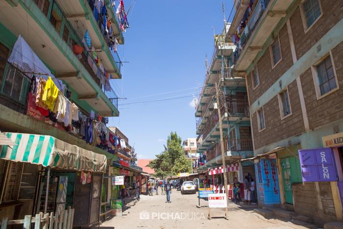 Houses in Dandora, Nairobi.