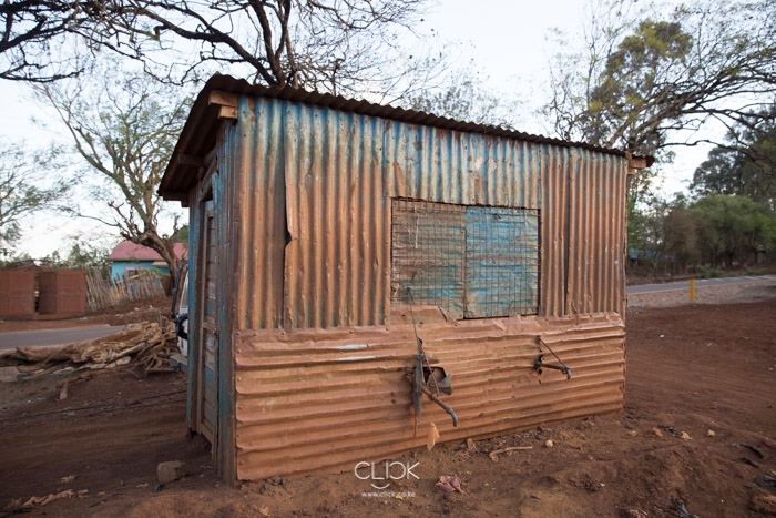A structure that was once the Saku Water Kiosk in Marsabit.