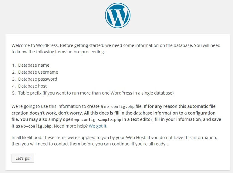 First day with #WordPress (1/2)