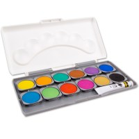 Deckfarbkasten Tuschkasten Tusche 12 oder 24 Farben mit ...