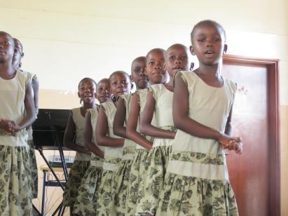 Kenyan Sunday school children