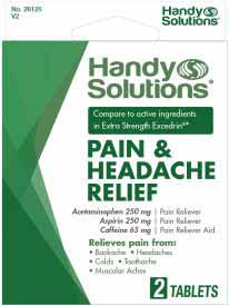 PAIN RELIEF/HEADACHE RELIEF 2CT