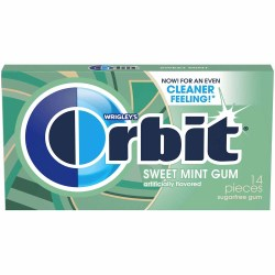 ORBIT SWEET MINT GUM 14 PC