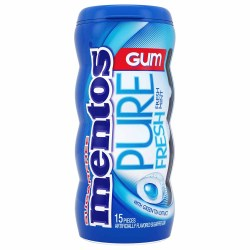 MENTOS SUGAR FREE PURE FRESH MINT GUM 1.06 OZ