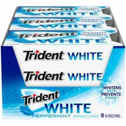 TRIDENT WHITE PEPPERMINT GUM 16 PC