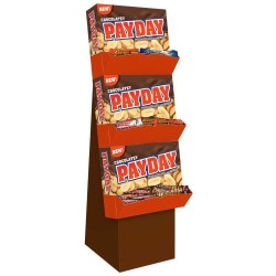 CHOCOLATE PAYDAY & ASSORTED STANDARD BAR SHIPPER