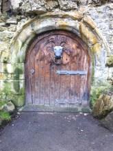A gorgeous oak door. It was locked, so to where does it lead?
