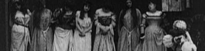 """oldhollywood: Bluebeard(1901, dir. Georges Méliès) """"King Bluebeard turned all the keys of the castl"""