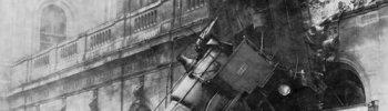 ckck: Train wreck at Gare Montparnasse, Paris, France. October 22nd, 1895. Photograph byStudio Lévy