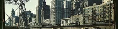 decoarchitecture: View from Illinois Central Freight Terminal, Chicago, Illinois Historic 1943 photo