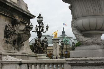 From Pont Alexandre III. Paris.