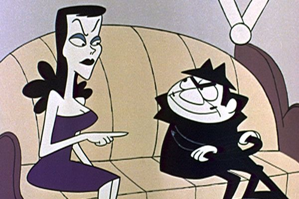 Boris Badenov and Natasha Fatale from Rocky & Bullwinkle