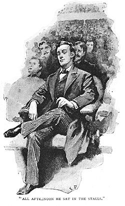 A Sidney Paget illustration, in which Sherlock practices 'distancing' and allows his mind to wander.