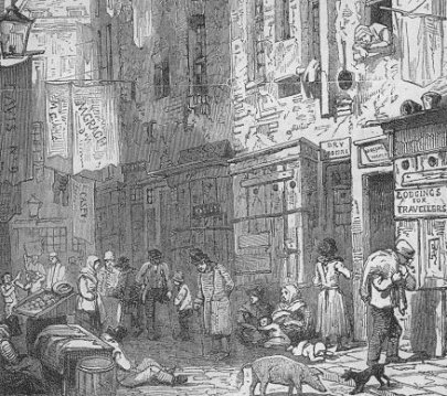 Near St. Giles, from Thomas Miller's Picturesque Sketches of London (1852)