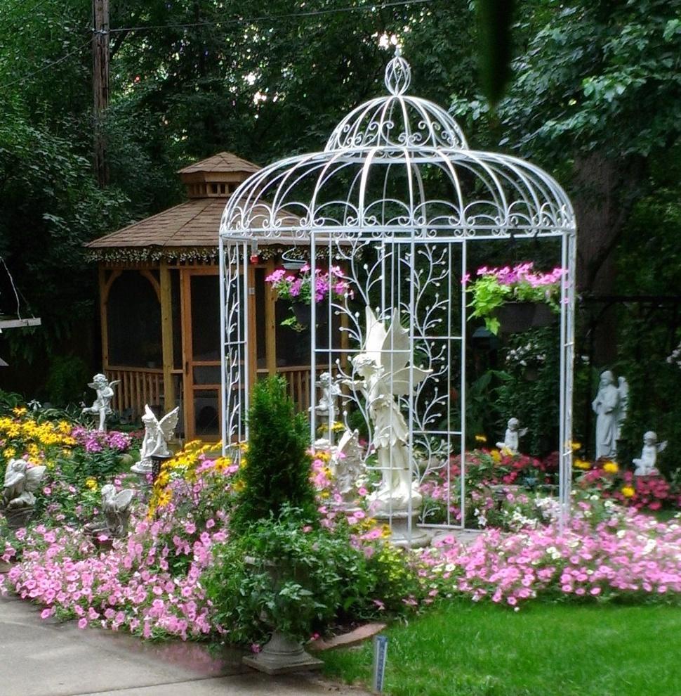 garden, statues and gazebo