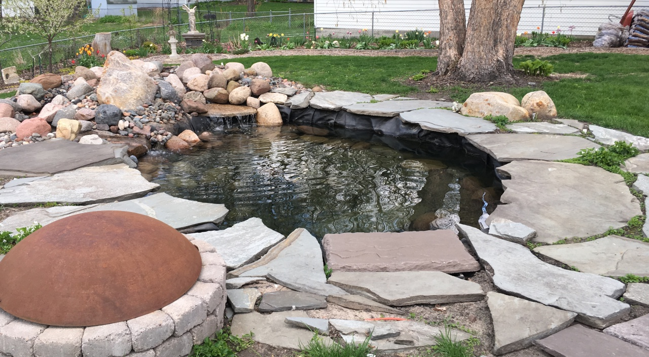 water fall and pond
