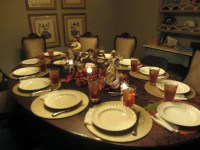 set table for thanksgiving dinner  Loris Decoration