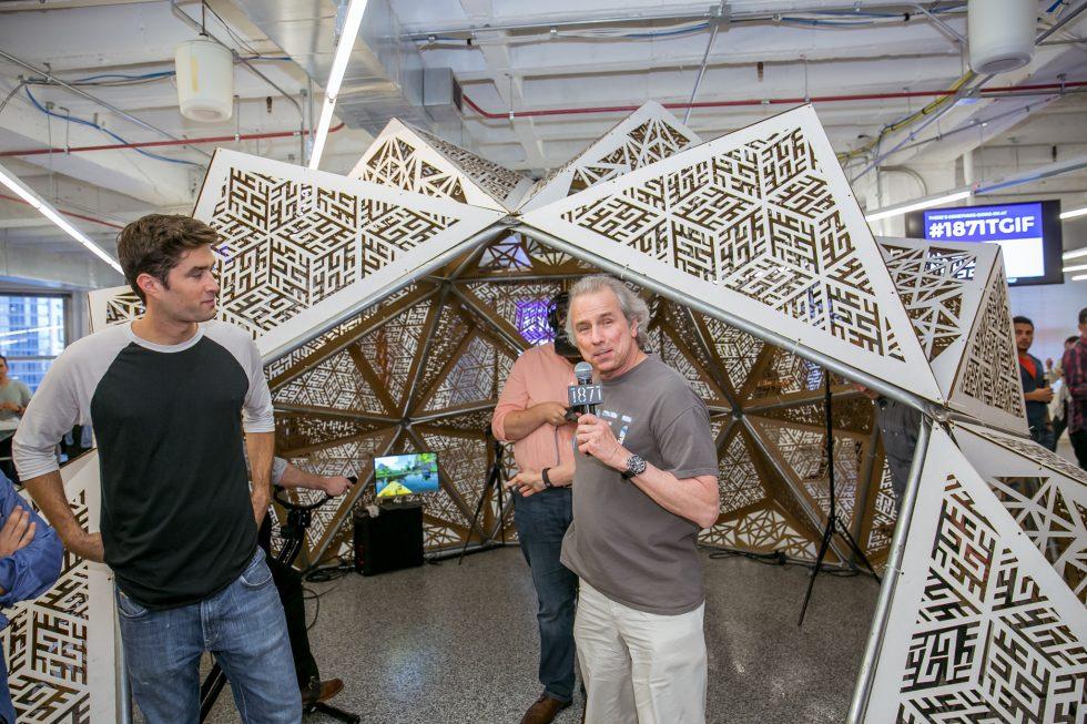 1871 Virtual Reality Dome at Happy Hour TGIF Howard Tullman
