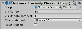 NetworkProximityChecker w UNet
