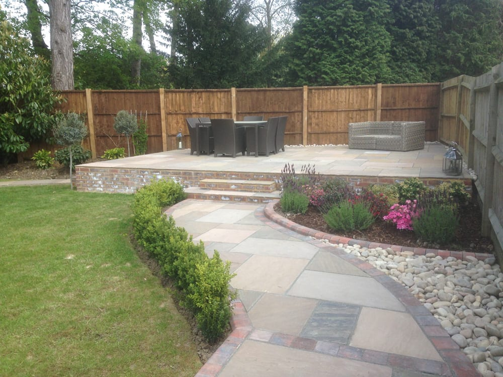 patio and garden path construction in