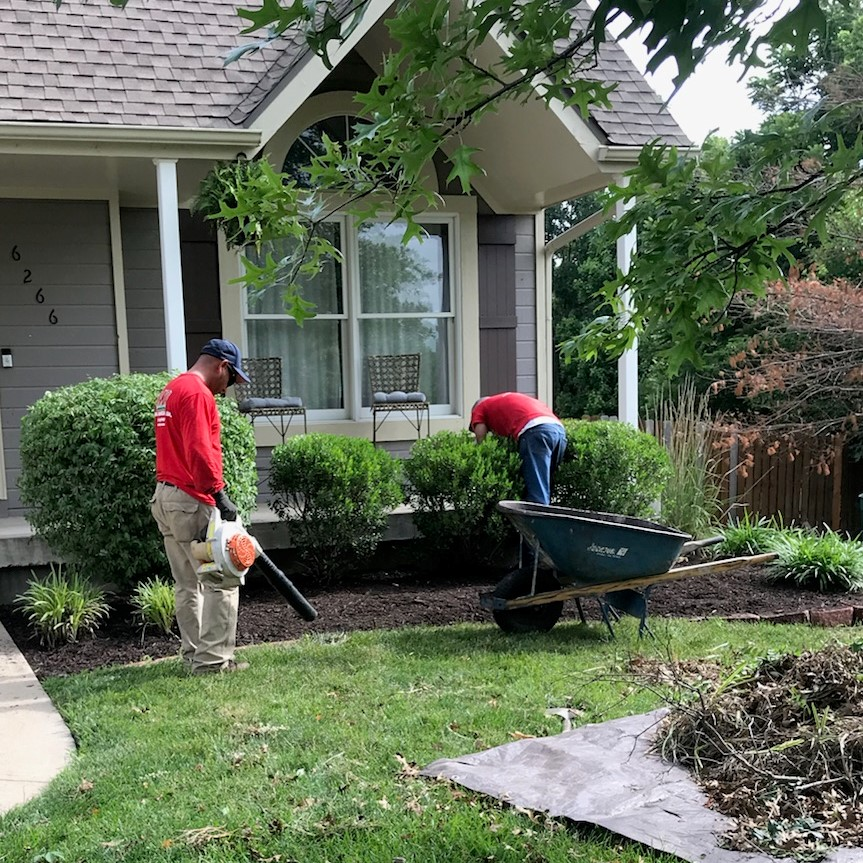 Lawn Services Bed Weeding