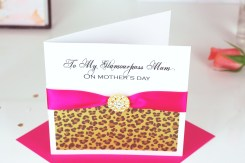 Leopard print Mothers day card £7.95 www.madewithlovedesigns.co.uk