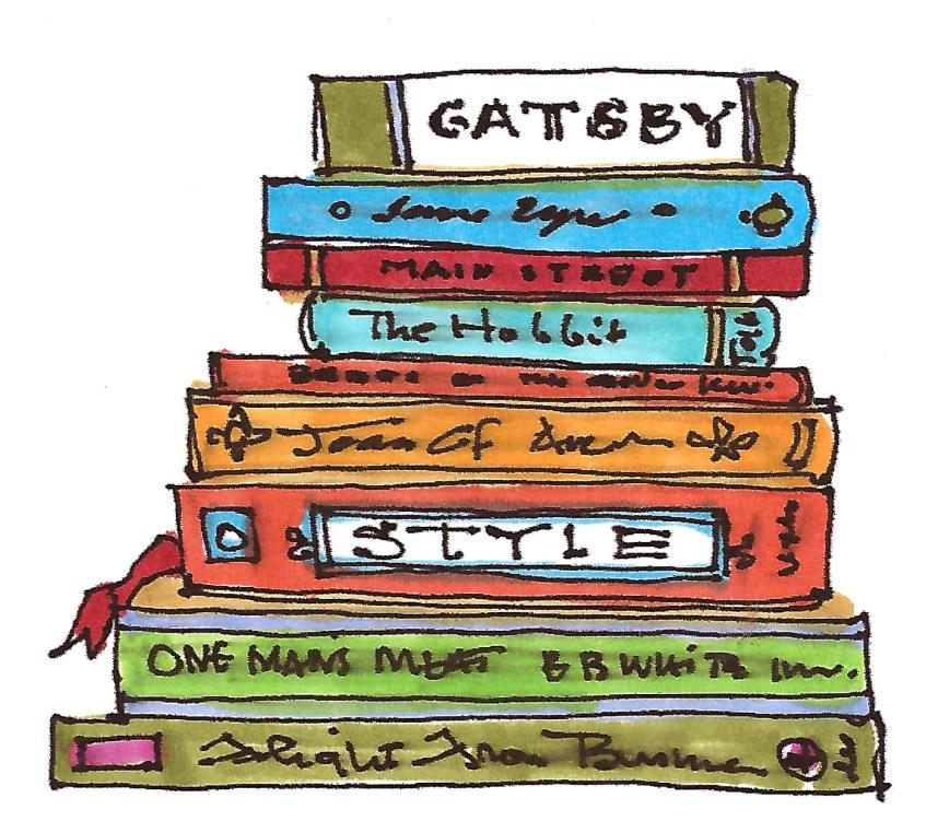 m wood book stack