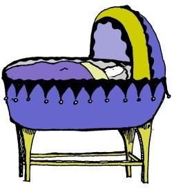 crgib baby bassinet blue