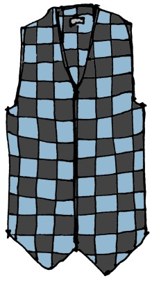bountiful checkered vest