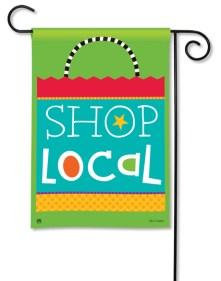 """""""Local Shopping Bag"""" garden flag by Holli Conger SKU: 31185D"""