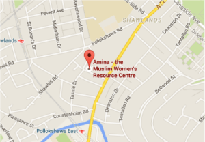 Amina Glasgow Office Map