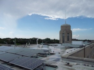 view from the CCGT roof, facing southwest