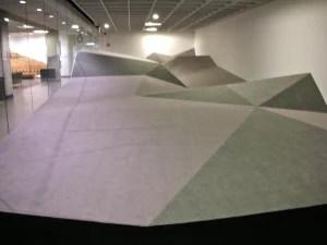Deborah Stratman's sound installation in the Gahlberg Gallery, College of DuPage