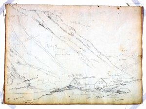 Thomas Cole, American, Cole sketch; Crawford Notch, 1839. Source: Princeton Art Gallery Website