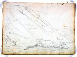 Thomas Cole, American, Cole sketch; Crawford Notch, 1839. Source: Princeton Art Gallery Website