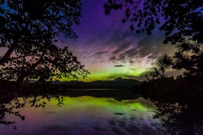 northern lights, Chocorua Lake