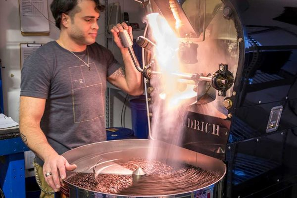 Good Vibes coffee roasting process