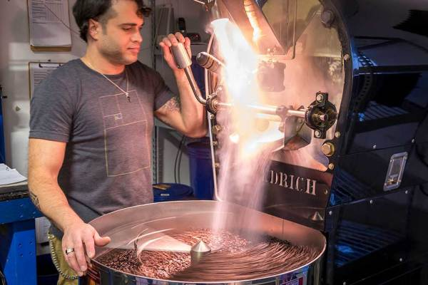 Good Vibes coffee roasting process