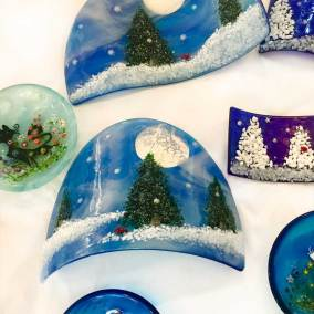 Fused Glass by Linda Banks at Cassidy Gallery