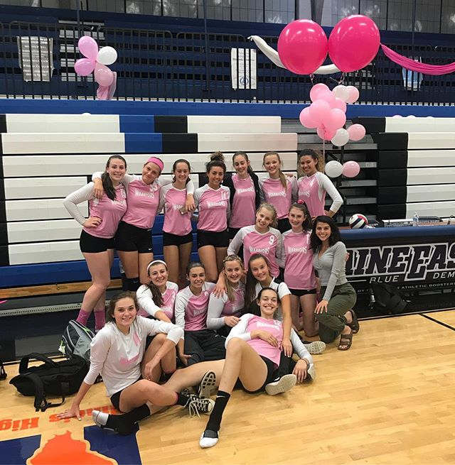 Girls Varsity Volleyball celebrated Volley for the Cure today at Maine East